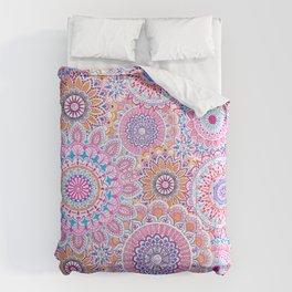 Mandala Maze Pink Comforters