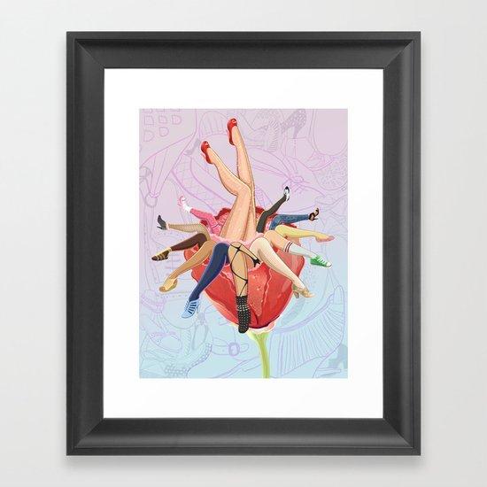 Shoe Love Framed Art Print