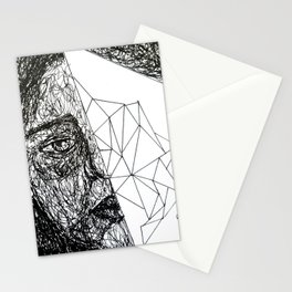 human and a bit of space and time  Stationery Cards