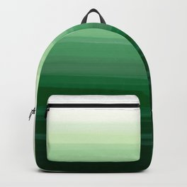 Green Emerald Gradient Color Blend Backpack