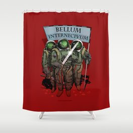 A war of extermination. Special red edition Shower Curtain