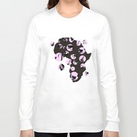 africa Long Sleeve T-shirts featuring Africa by Dreamy Me