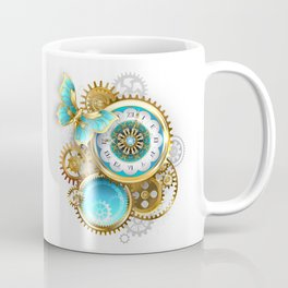 Clock and Gear with Butterfly ( Steampunk ) Coffee Mug