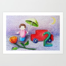 Crayon Love Toys I've Stepped On Art Print