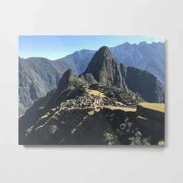 Macchu Picchu on a clear day Metal Print