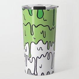Cute Pride Pastel Melting Pride Design, Aromantic flag Travel Mug