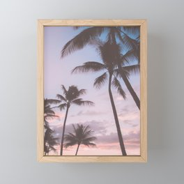 Pastel Palm Trees Framed Mini Art Print