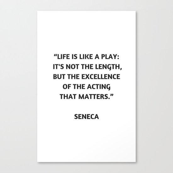 Stoic Philosophy Quote - Seneca Canvas Print by ...