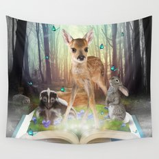 Believe In Magic • (Bambi Forest Friends Come to Life) Wall Tapestry
