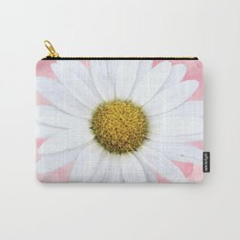 Close Up Daisy against Tie Dye Background Carry-All Pouch