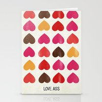 ass Stationery Cards featuring LOVE ASS by Lulla