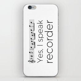 Do you speak recorder? iPhone Skin