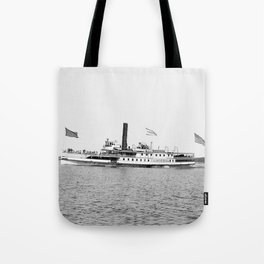 Ticonderoga Steamer on Lake Champlain Tote Bag