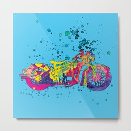 ap127-10 Motorcycle Metal Print
