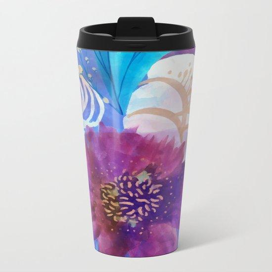 Spring floral mood Metal Travel Mug
