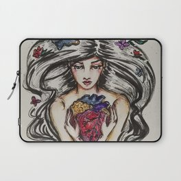 be still my beating heart anitomical love valentine tattoo brunette Laptop Sleeve
