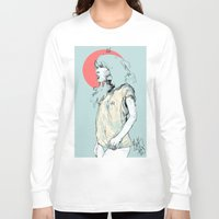 korea Long Sleeve T-shirts featuring Korea Girl by Dave Long [A1W]