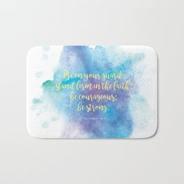 Inspiring Bible Verse, Be Courageous Bath Mat