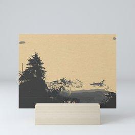 Montain vibe Mini Art Print