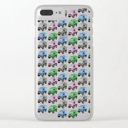 military truck pattern Clear iPhone Case
