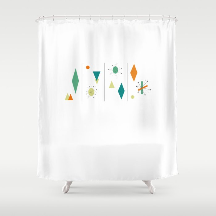 1950s Mid Century Design Shower Curtain By Imagepixel
