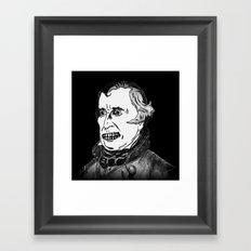 12. Zombie Zachary Taylor  Framed Art Print