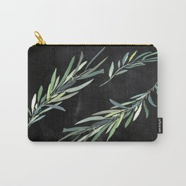 Eucalyptus leaves on chalkboard Carry-All Pouch