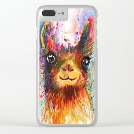 Llama love Clear iPhone Case