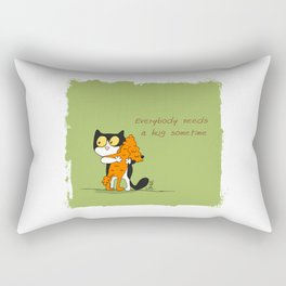 Everybody needs a hug sometime Rectangular Pillow