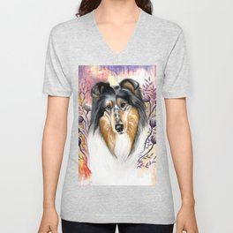 Sweet Collie Unisex V-Neck