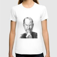 steve jobs T-shirts featuring Steve Jobs caricature by michelepetrelli