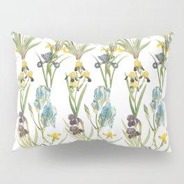 Irises 1 | Iris Flowers | Vintage Floral Pattern | Flower Patterns | Pillow Sham