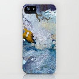 Under the Sea Fluid Acrylic Pour iPhone Case