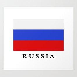 Russia flag Art Print