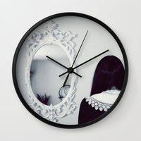 mirror Wall Clocks featuring Mirror by Bella Harris