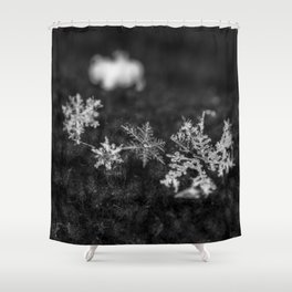 Clump of snowflakes Shower Curtain