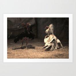 Cockfighting 6 Art Print