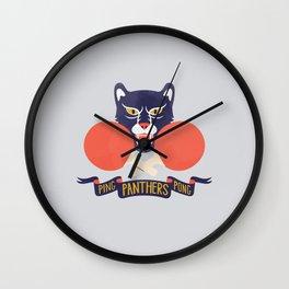 Ping Pong Panthers Wall Clock