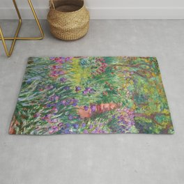 The Iris Garden at Giverny by Claude Monet Rug
