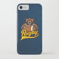 rugby iPhone & iPod Cases featuring RUGBY by frail