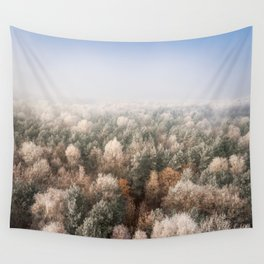Vanish in the Snow Wall Tapestry