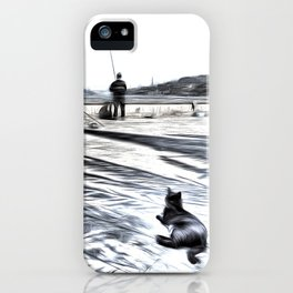 The Waiting Game Art iPhone Case