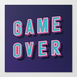 The Game Over Art Canvas Print