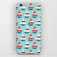 boat iPhone & iPod Skins featuring Boat by Valendji