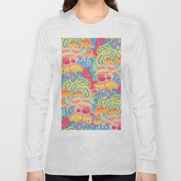 Fungi World (Mushroom world) -PINK Long Sleeve T-shirt
