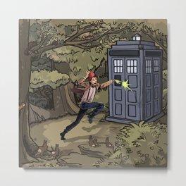 Doctor in Wonderland Metal Print
