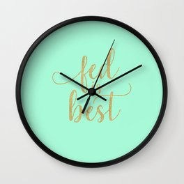 Gold Fed Is Best Wall Clock