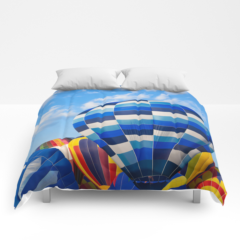 Vibrant Hot Air Balloons Comforter by Somadjinn CMF4090181