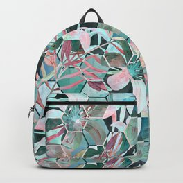 Floral, geometric abstraction Backpack