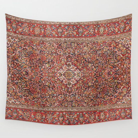Kashan  Antique Persian Rug Print by vickybragomitchell